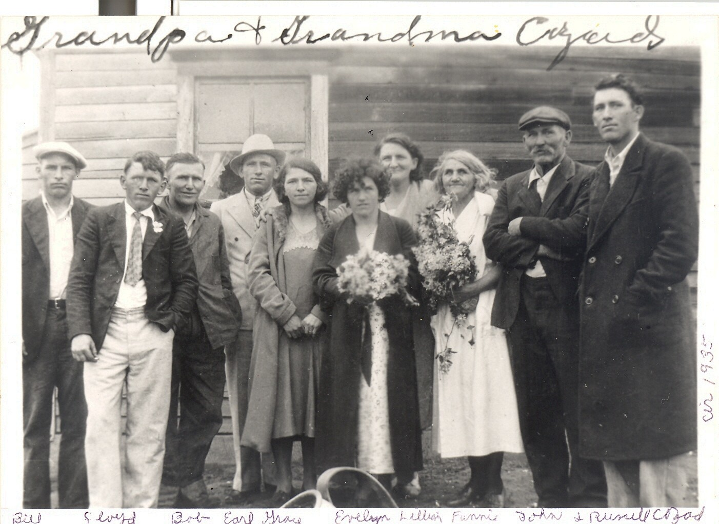 John and Fannie Cozad and family abt. 1935