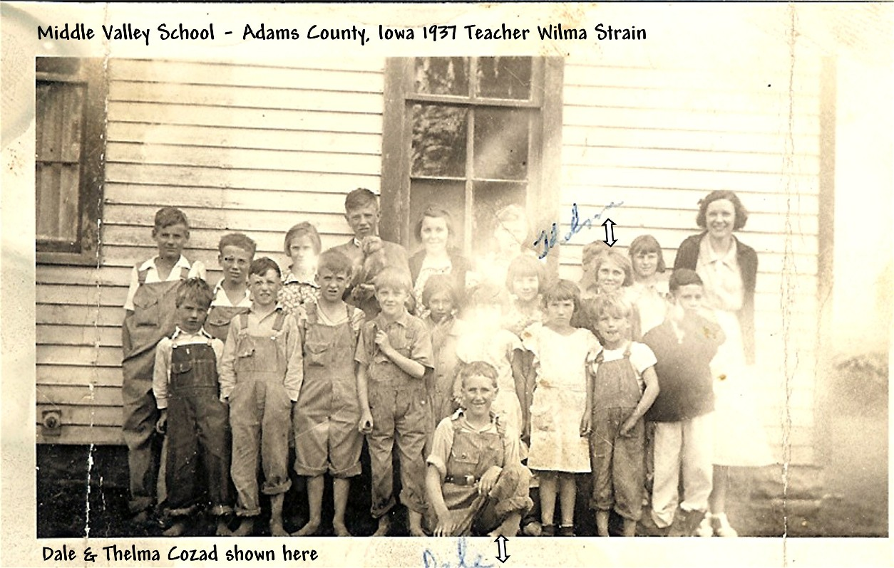 Middle Valley School class in 1937