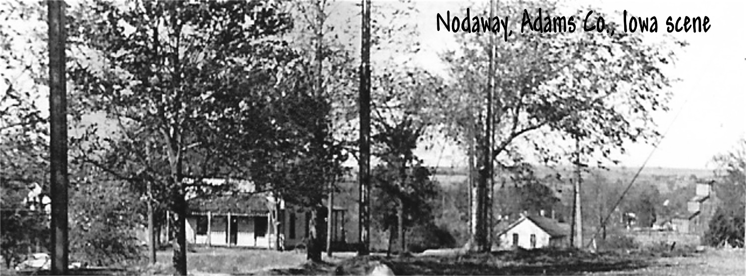View of Nodaway Iowa abt 1955